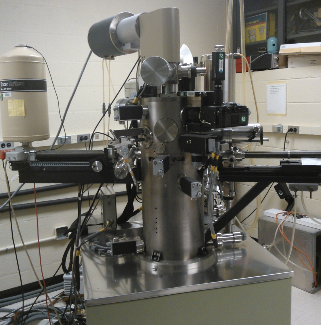 This is an image of a scanning transmission electron microscope