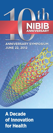 Banner for the NIBIB tenth anniversary science symposium.