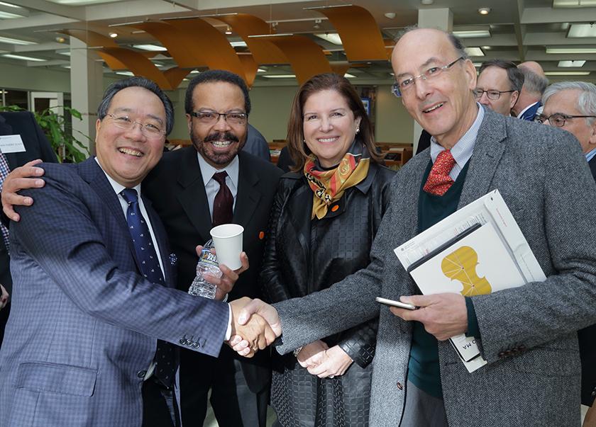 Yo-Yo Ma, Dr. Pettigrew, Maria Freire, and Roger Glass