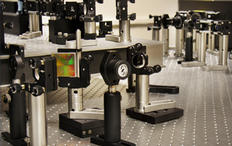This is an image of the laser configuration in the Section for High Resolution Optical Imaging