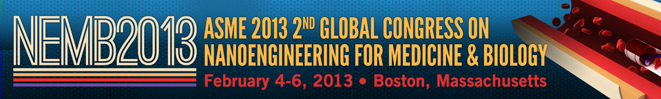 Banner for the ASME 2013 2nd Global Congress on NanoEngineering for Medicine and Biology (NEMB2013)