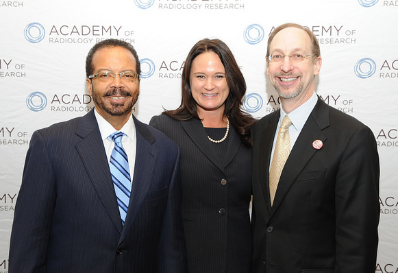 This is a photo of NIBIB director Roderic Pettigrew standing next to executive director of ARR Rene Crue  and president of ARR Jonathan Lewin