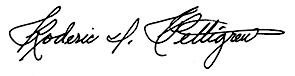 Roderic I. Pettigrew signature