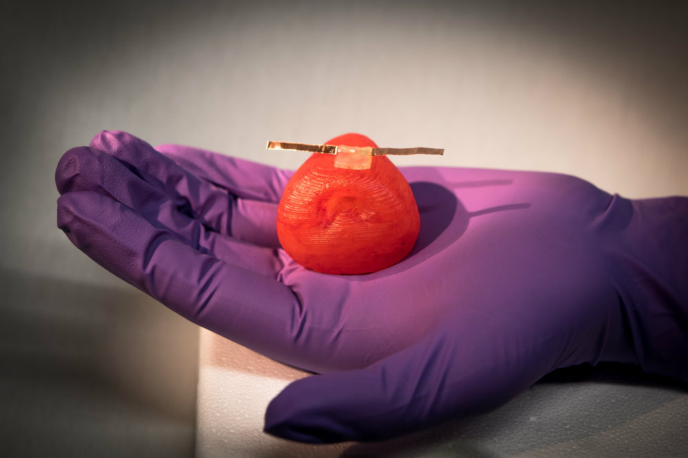 3D printed prostate model with electronic tactile sensor