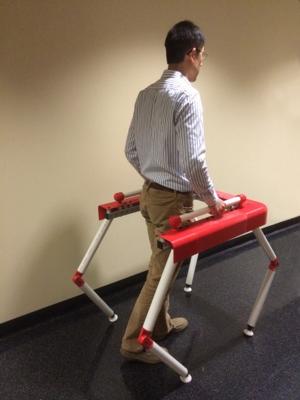 Picture of prototype for robotic walker