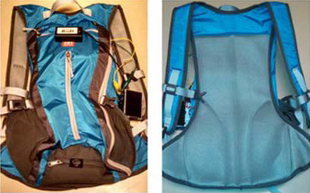Image of the blue RESONAIR backpack