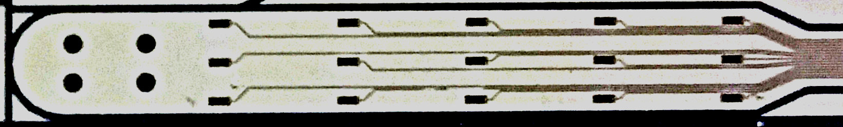 close-up of a microelectrode array used for spinal stimulation