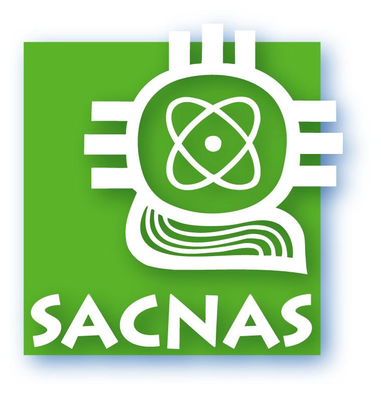 SACNAS green and white logo