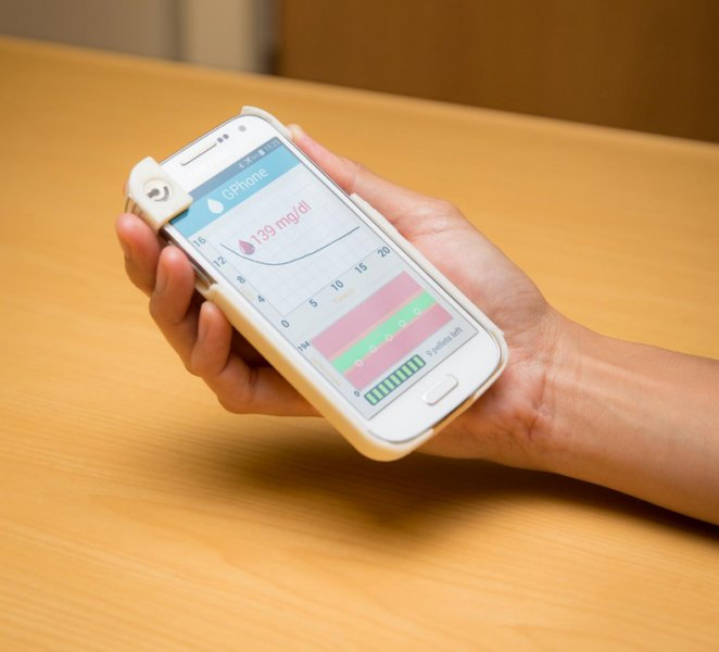 smartphone with glucose monitor