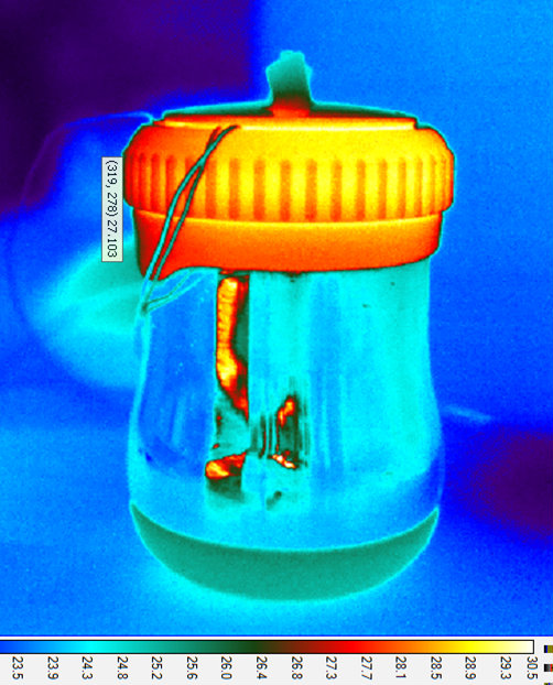 Thermal image of NINA device