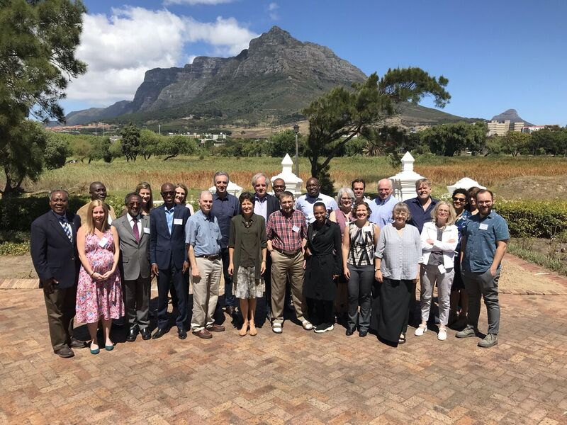 group of researchers meeting in Cape Town, South Africa