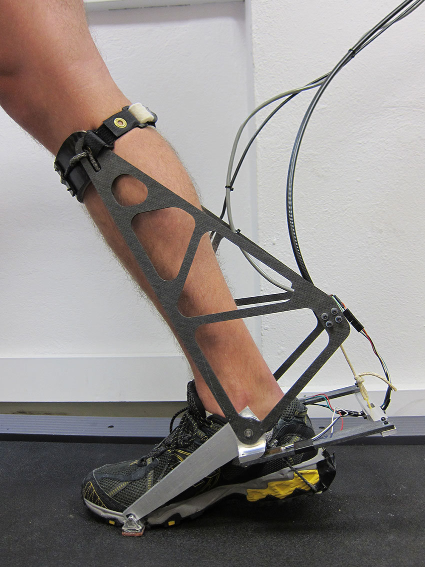 This is an image of the ankle interface being developed for the assistive ankle robot simulator