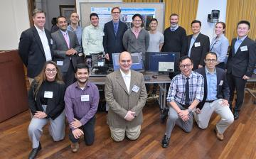 Forty congressional staff visited NIBIB to see technology demonstrations given by NIBIB grantees.  The demonstrations showcased research supported by NIBIB.